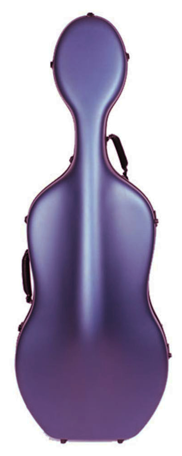 Endeavour 'Jupiter' DELUXE carbon fibre hard shell Cello Case. With wheels.